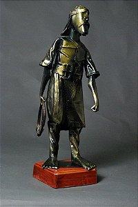Escultura Laçador em metal e solda