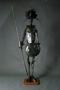 Escultura Dom Quixote 1,2 metros em ferro e solda