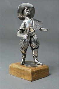 Escultura Gaúcho 22 em solda e aço inox