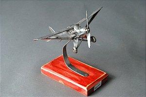 Escultura Avião em solda e inox