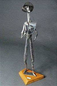 Escultura Gaúcho em solda e inox