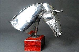 Escultura Cabeça de cavalo