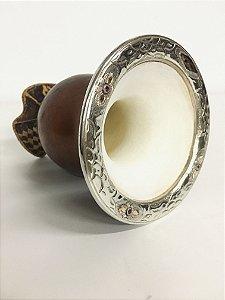 Cuia com bocal em ouro e prata -  1chapa e 3 pedras - 207