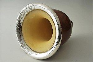 Cuia Especial Bocal trabalhado de prata - 207
