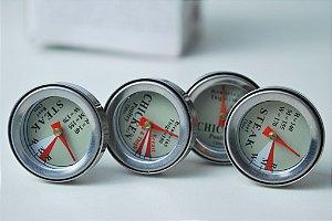 Conjunto com 4 termômetros para churrasco e assados