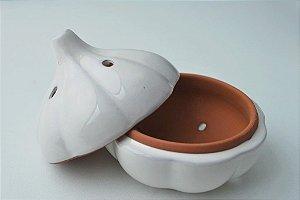 Porta alho cerâmica