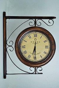 Relógios de Estação 36 cm de diâmetro em ferro e madeira