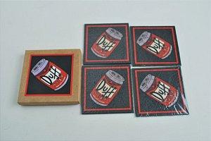 Conjunto porta copos 4 pecas - Duff Beer