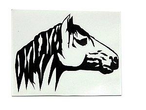 Adesivo Cabeça de cavalo 9,5cm x 9,5 cm