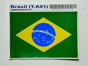 Adesivo 9 cm x 6cm Bandeira do Brasil