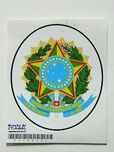 Adesivo 9 cm Brasão Republica Federativa Do Brasil