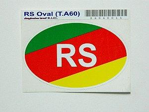 Adesivo 9cm x6 cm cores do Rio Grande