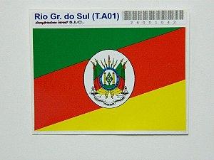 Adesivo 9cm x 6 cm Bandeira do Rio Grande