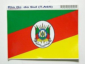 Adesivo 15 cm x 10 cm Bandeira do Rio Grande Do Sul