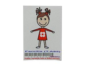 Adesivo da família menina 5cm