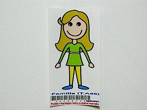 Adesivo Família Feminino 7,5 cm