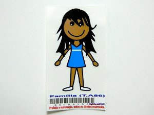 Adesivo Família 7  cm