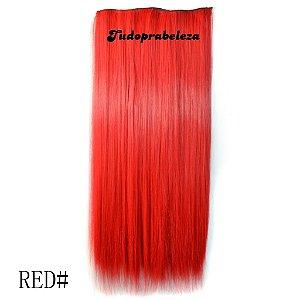 Aplique Vermelho Forte Liso 60cm COMPRE 2 E LEVE 3