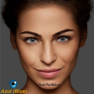 Lente Contato Azul Blue Natural Air Optix + Estojo + Brinde