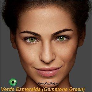 Lente Contato Verde Esmeralda Air Optix + Estojo + Brinde