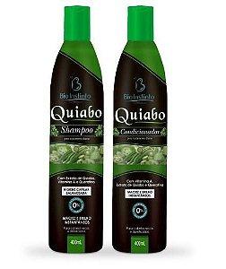 kit Shampoo e Condicionador de Quiabo- Intensivo