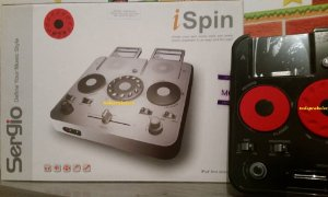 Mesa Mixer Controladora Dj Ispin P/ Ipod Iphone Mp3 + Fone