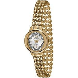 Relógio Feminino Mondaine  Bolinhas Douradas Analogico