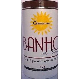 Glamurosa Botox Banho de Verniz Óleo de Argan e Mandioca - Hidratação Extra Profunda 1kg