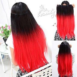 Aplique Preto com vermelho Liso 60 cm