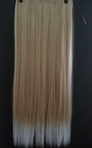 Aplique Mel com Loiro Liso / Loiro claro com Dourado 60 cm