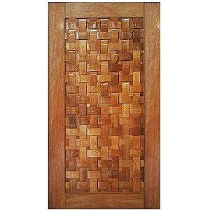 Porta de Madeira Maciça - COURO TRANÇADO