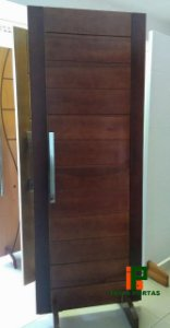 Porta de Madeira Maciça Mista Selada - REF.12