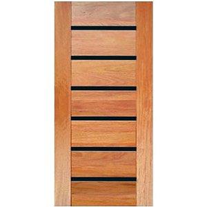 Porta de Madeira Maciça - BBB Friso Preto