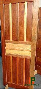Porta de Madeira Maciça Mista Almofadada (Somente a Porta