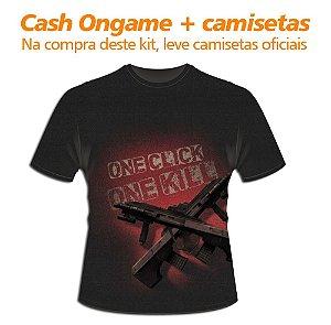 Kit 3: 5.000 Cash Ongame + 14 camisetas