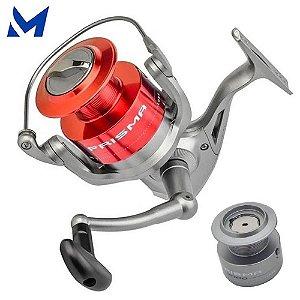Molinete de Pesca Marine Prisma 2000 5 Rolamentos com Carretel Extra