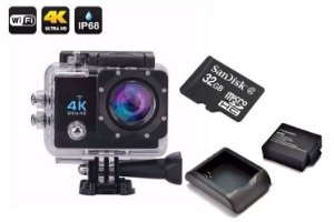 Kit Action Go Cam Pro Sport Ultra 4k + Microsd 32Gb + Carregador e Bateria