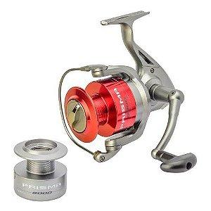 Molinete Marine Sports Prisma 4000, 5 Rolamentos,  Manivela cambiável, Resistente à corrosão