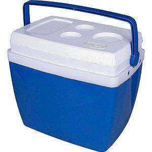 Caixa Térmica 34 Litros Com Alça E Porta Copos Cooler - MOR