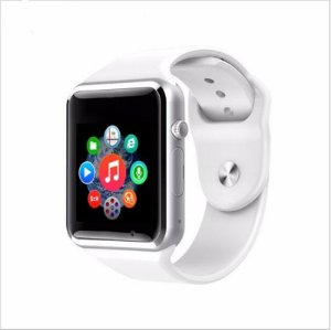 Relógio Smartwatch A1 Original Touch Bluetooth Gear Chip- Branco-Prata