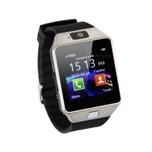 Relógio Bluetooth Smartwatch Dz09 Iphone Android Gear Chip - Preto-Prata
