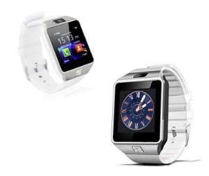 Relógio Bluetooth Smartwatch Dz09 Iphone Android Gear Chip - Branco-Prata
