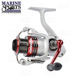 Molinete de Pesca Marine Sports Brisa 1000 Drag 5Kg 6 Rolamentos Fricção Dianteira