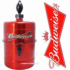 Chopeira Doméstica Portátil 5,1 Litros Vermelha Budweiser