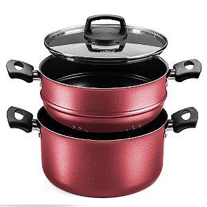 Panela Para Cozinhar no Vapor Cozivapor Cereja Tvt Nº 20 - Mta