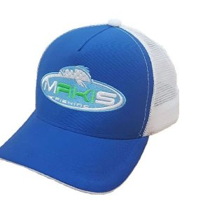 Boné Makis Fishing Azul com Branco