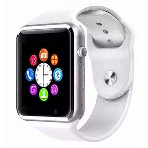 Relógio Smartwatch Celular A1 3g Chip Android  App Branco