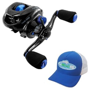 Carretilha Saint Plus Twister 10000 Com Boné Makis Fishing Azul