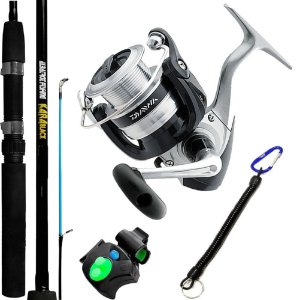 Kit Molinete Daiwa Strikeforce 4000 Com Vara Albatroz Kara Black 1,65 Alarme e Salva Vara