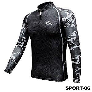 Camiseta de Pesca King Com Proteção Solar UV50+ - Sport 06